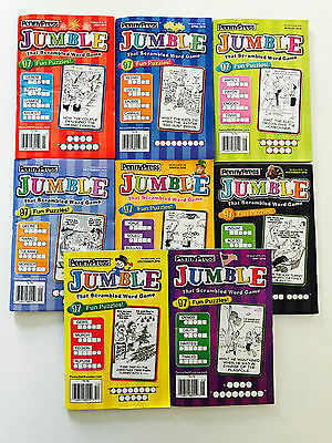 Lot of 8 Jumble Puzzle Books from 2016 Penny Press Dell Variety FAST SHIP