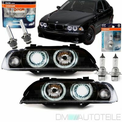 BMW E39 Angel Eyes Xenon Scheinwerfer Facelift UPGRADE 00-03 +4x OSRAM BIRNEN