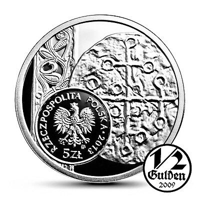 POLAND 5 Zlotych 2013 Denarius of Boleslaw Silver Proof Coin Polish Mint