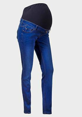 Maternity New Look (ex) Skinny Jeans Over The Bump Blue Size 10 (79/3B)
