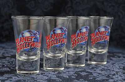 Planet Hollywood Shot Glass Collection (lot of 4) Frankfurt  Germany