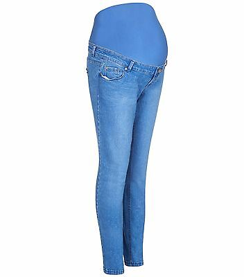 Maternity New Look (ex) Skinny Over The Bump Jeans Light Blue Size 6 (79/3LB)