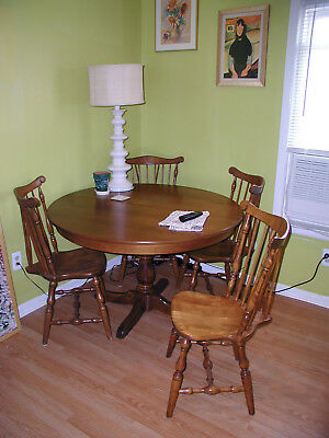 S. Bent & Bros Colonial Table(4' =  6') and 5 Chairs