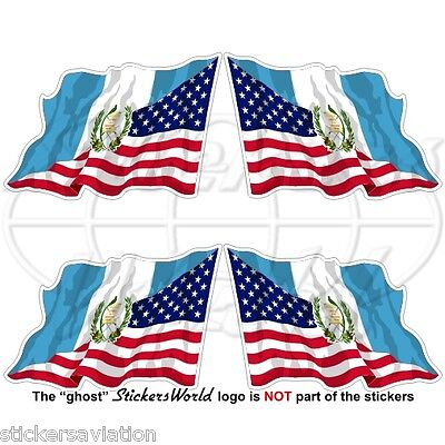 USA United States America-GUATEMALA Guatemalan Flying Flag 50mm Sticker Decal x4