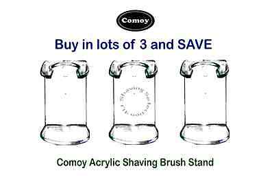 ACRYLIC SHAVE BRUSH STAND-Wall or Stand Mounted-Purchase in lots of 3 & SAVE $$$