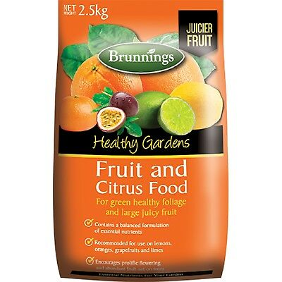 Fruit and Citrus Food 2.5kg Fertiliser Brunnings Garden Fertilizer Trees Plant