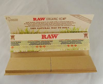 5 x RAW [ ORGANIC HEMP + TIPS ] KING SIZE SLIM, Natural Unrefined Rolling Papers