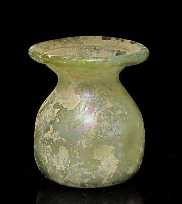 ancient  glass ancient roman jar g134