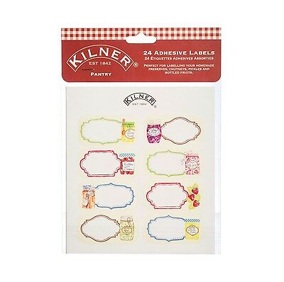Kilner 24 Piece Pantry Label Set 0025.780 Assorted Self Adhesive Labels