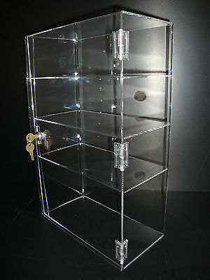 "Acrylic Show Case 12"" x 6"" x 19"" Locking Security Countertop display"