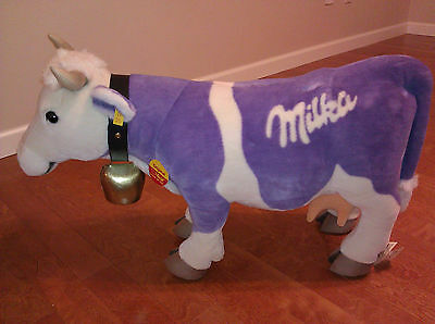 "Largest STEIFF stuffed Milka Cow 30""  - Limited Edition - Rare Collectors Item"