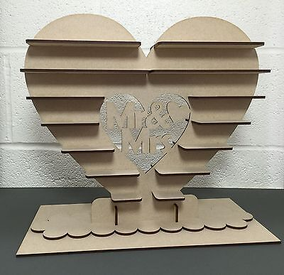 Y11 150x Choc Mr Mrs Ferrero Rocher Heart Tree Wedding Display Stand Centrepiece