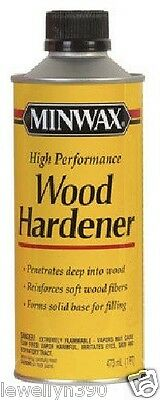 MINWAX WOOD HARDENER Seals and strengthens rotted window sills, frames, sashes