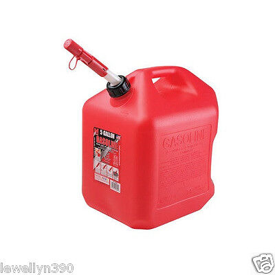 Midwest 5600 5 Gallon Red Plastic Epa Compliant Gas Fuel Can Container New