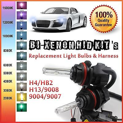 Two 35W 55W Bi-Xenon Hi Low HID Kit 's Replacement Light Bulbs H4 H13 9004 9007