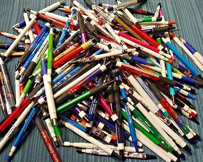 Lot of 750 Misprinted plastic Retractable Ball point pens - NEW!  Fast shipping!
