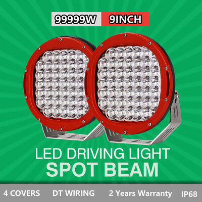 9inch 26100W Cree led Driving Work light Spot lights Off Road 4WD RED HID Round