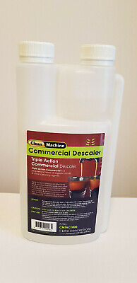 Clean Machine Triple Action Coffee Espresso Cleaner Descaler 1L 20 uses