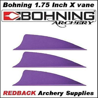 25 Bohning 1.75 inch X Vane Purple for arrows archery hunting