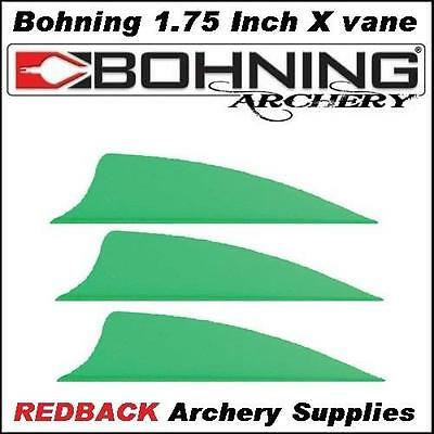 25 Bohning 1.75 inch X Vane Neon Green for arrows archery hunting