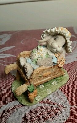 Springtime Blessing ~ My Blushing Bunnies ~ Rabbit Figurine by Priscilla Hillman