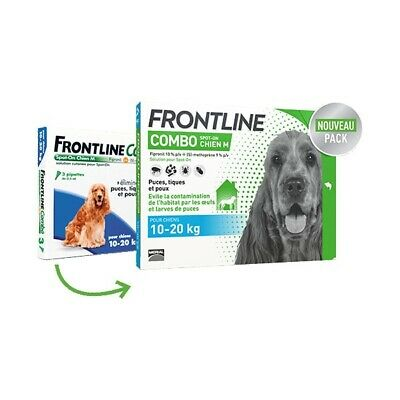 Frontline Combo Spot-On M Chien (10-20 kg) - 4 pipettes