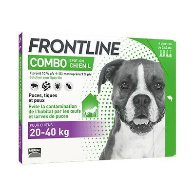 Frontline Combo Spot-On L Chien (20-40 kg) - 4 pipettes
