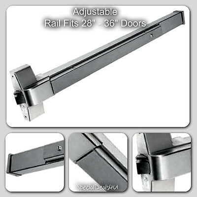 Door Emergency Exit Push Bar Panic Device Commercial Safety Alarm Fire Steel ULC