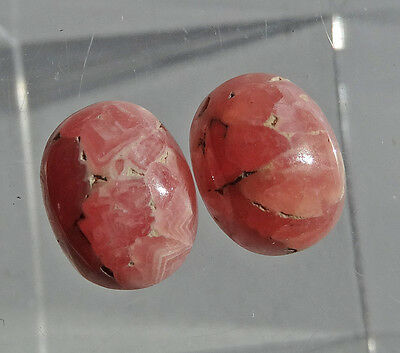 2 RHODOCHROSITE cabochon taille ovale 6,68 cts paire - Saphirboutique