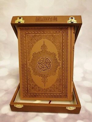 Arabic Holy Quran uthmani script Leather Cover Large size 17 x 24 cm Without Box