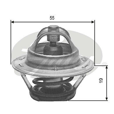 Gates Thermostat coolant TH12389G1 Fit with Citroen ZX