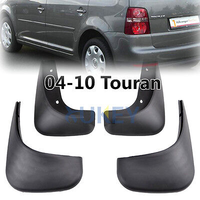 Front Rear For 2004~2010 Vw Touran Mudflaps Mud Flap Flaps Mudguard Splash Guard