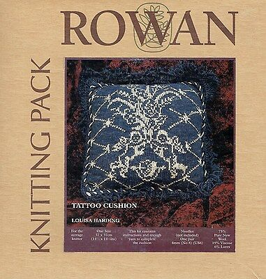 Louisa Harding Tattoo Cushion Kit - Rowan 20, Vintage Donegal Lambswool, Lurex
