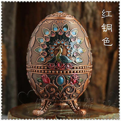 Chinese handwork painted peacock Toothpick box Egg-shaped toothpick box #2