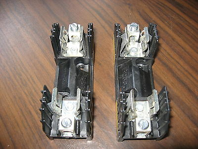 Lot of 2 Nice Buss R25060-1CR Fuse Blocks (1 Pole, 60 Amp, 250 Volt)