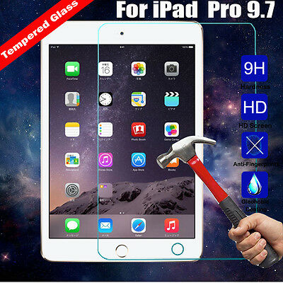 9H Premium Tempered Glass Screen Protector Guard Film For Apple iPad Pro 9.7 in