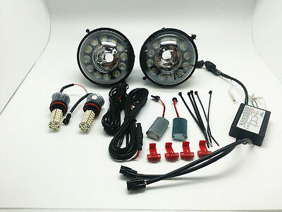 LED Daytime Running Lights Fog Lamps Assembly Kit+Bulbs For MINI Cooper R56 R60