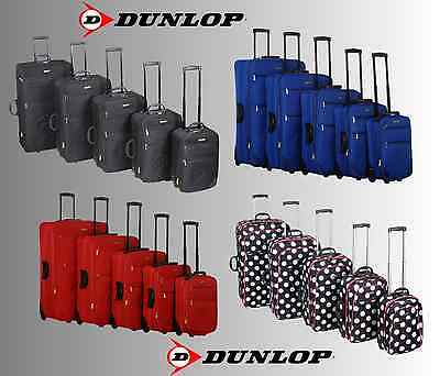 @@@ 5 Tailles @@@ Valise A Roulette Trolley Bagage A Main Sac De Voyage Dunlop