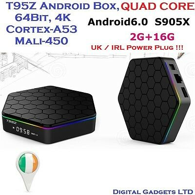 T95Z Quad Core S905X 2G/16G Android 6.0