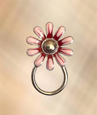 NEW Gorgeous Pink & Red Flower Eye Glasses / Spectacle Hanger Brooch Pin Holder