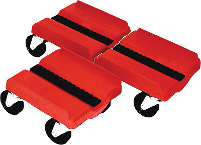SUPERCADDY SS RED Four Wheel Dolly 3 Piece Set - Red