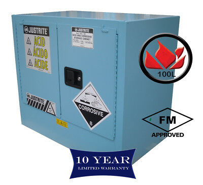 100L Dangerous Goods Storage Corrosive Chemical Safety Cabinet 10 Yr Warranty