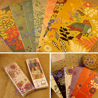 30pcs Colorful Flowers & Birds Paper Bookmarks For Gift Present Souvenirs Prize