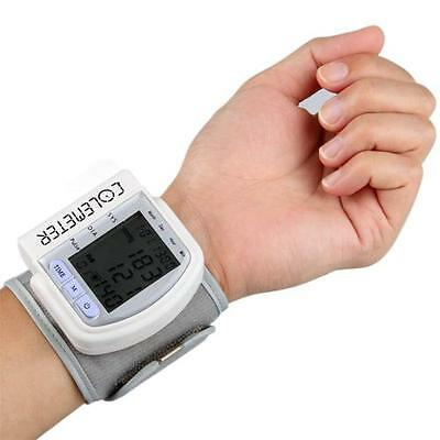 Protable Digital Automatic Wrist Blood Pressure Heart Health Monitor Home Test