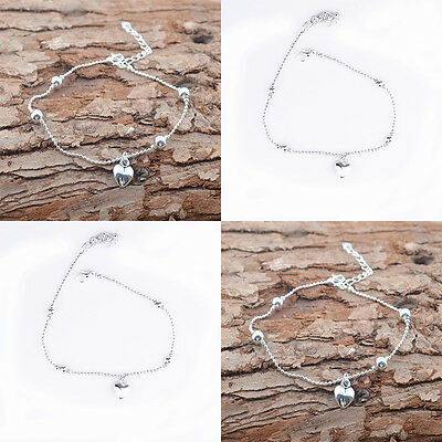 Fashion 925 Sterling Silver Anklet Foot Chains Soles Ankle Barefoot Bracelet