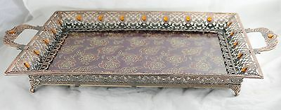 Decorative Copper Style Serving Tray 0661