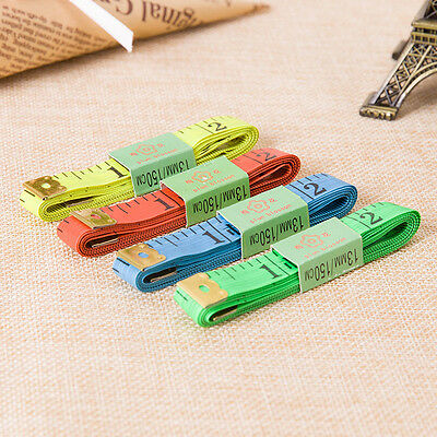 """2x Body Measuring Ruler Sewing Cloth Tailor Tape Measure Soft Flat 60"""" /150cm DW"""