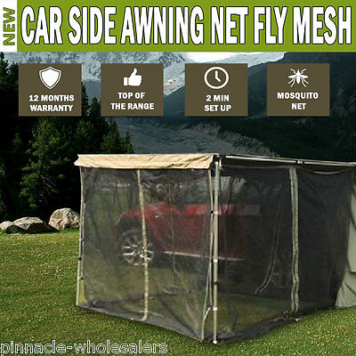NEW Car Side Awning NET Fly MESH Shade 2MX2.5M 4WD 4X4 Camper Trailer Camping