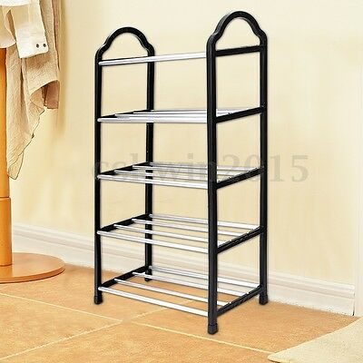 Shoes Rack Durable 5 Tier Stand Storage Holder Closet Organizer Tower Shelves