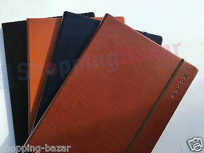 A4/A5/Pocket Premium Soft Feel Notebook Notepad Ruled Lined Hardback 100 Sheet